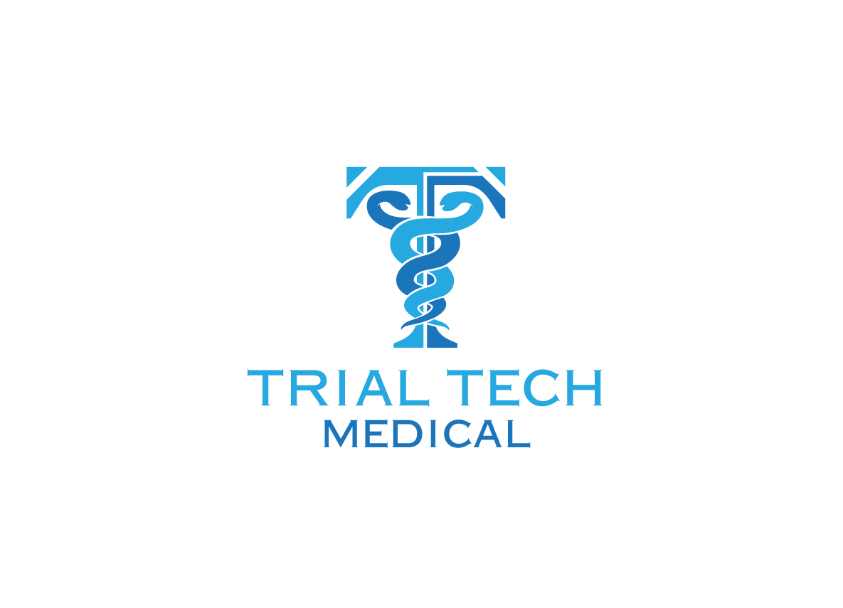 Serious Modern Medical Logo Design For Trial Tech