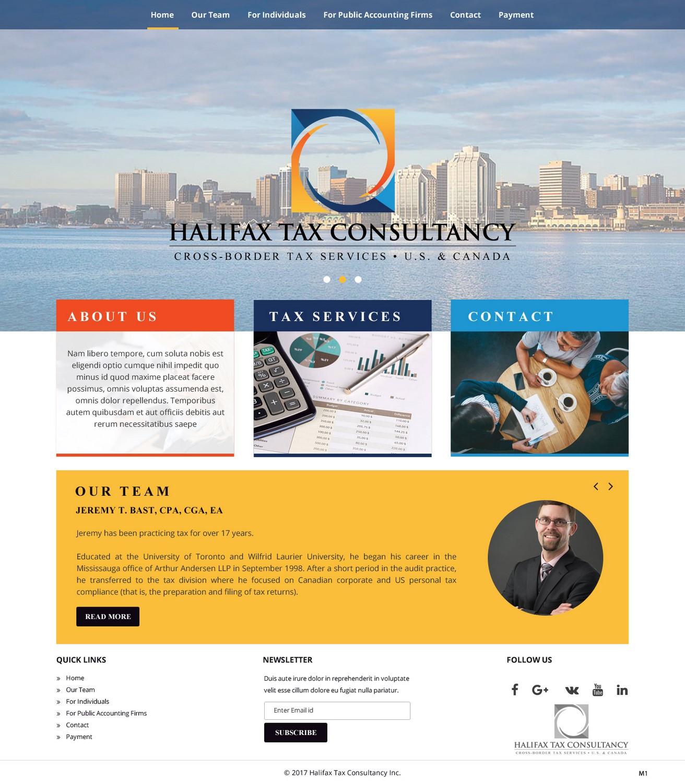 Masculine Elegant Web Design For Halifax Tax Consultancy Inc By Pb Design 16077947