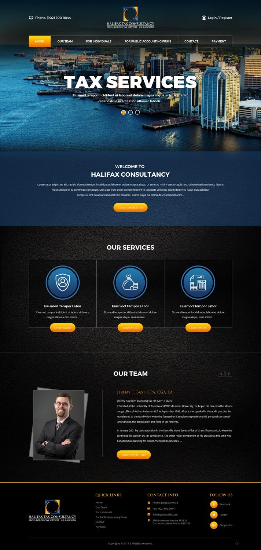 Masculine Elegant Web Design For Halifax Tax Consultancy Inc By Pb Design 16077949