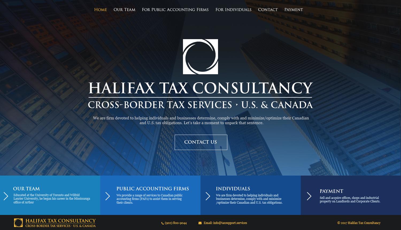 Masculine Elegant Web Design For Halifax Tax Consultancy Inc By Jeckx2 Design 16127503