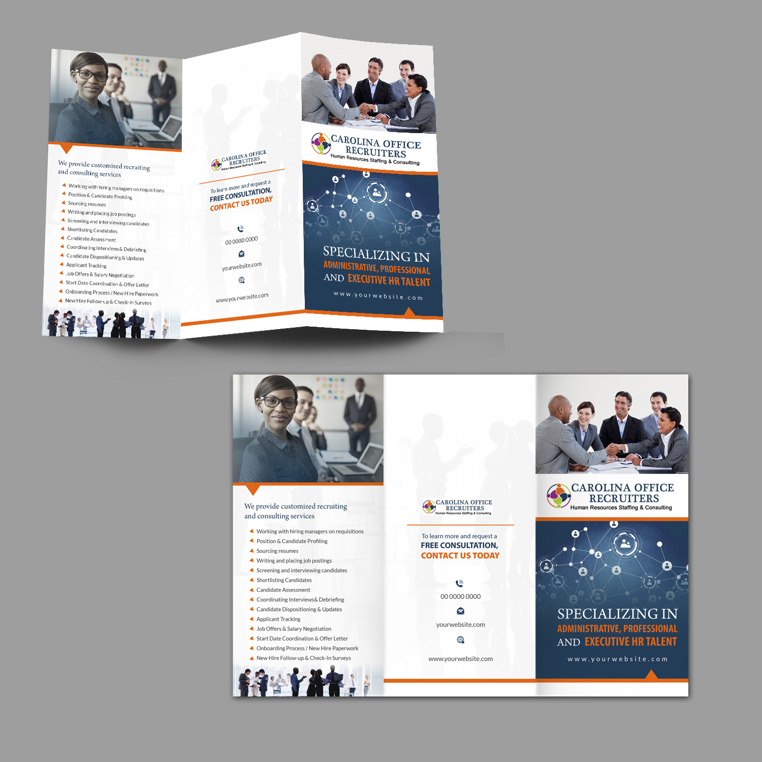 serious bold recruitment brochure design for a company by hih7