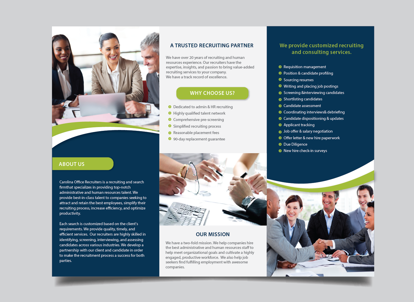 serious bold recruitment brochure design for a company by