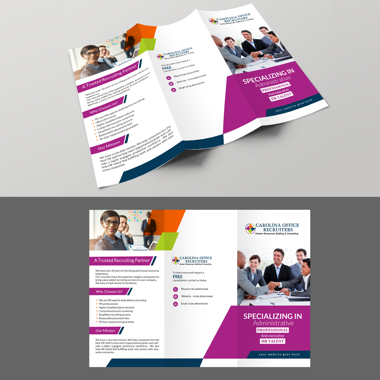 serious bold recruitment brochure design for a company by creative