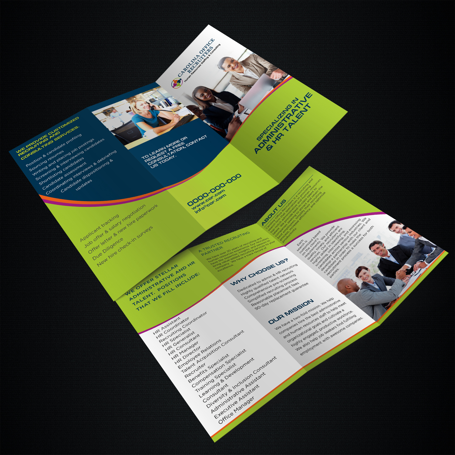 serious bold recruitment brochure design for a company by kreative
