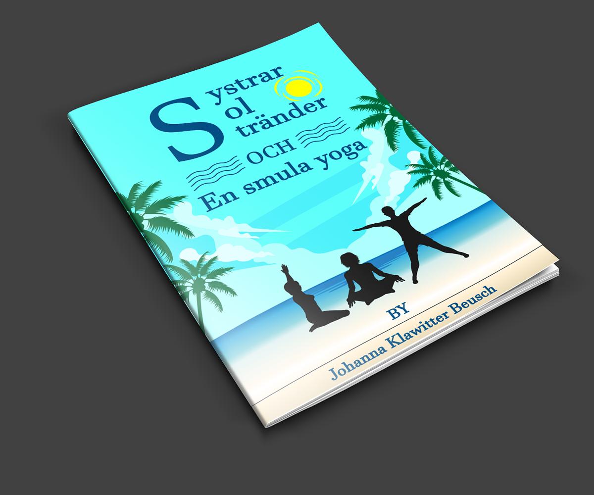 Yoga Book Cover Design : Feminine elegant book cover design for yoga med johanna