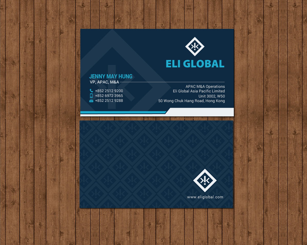 professional upmarket business card design for jenny may hung by