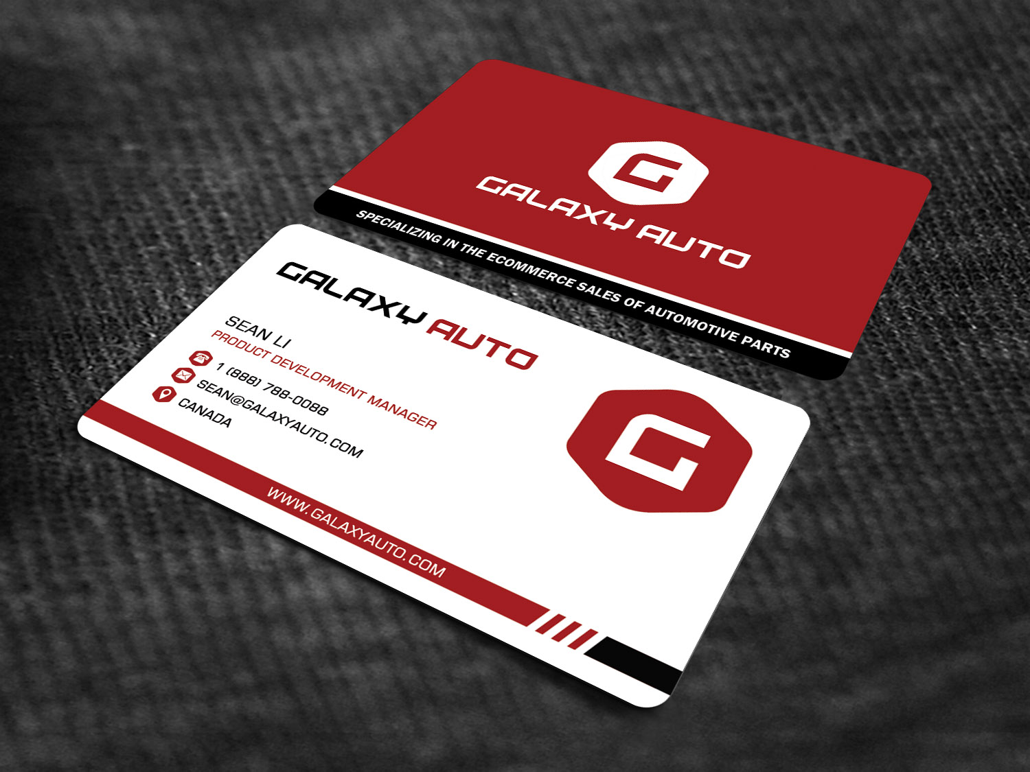 Bold masculine automotive business card design for galaxy auto ltd bold masculine automotive business card design for galaxy auto ltd in canada design 16146636 reheart Choice Image