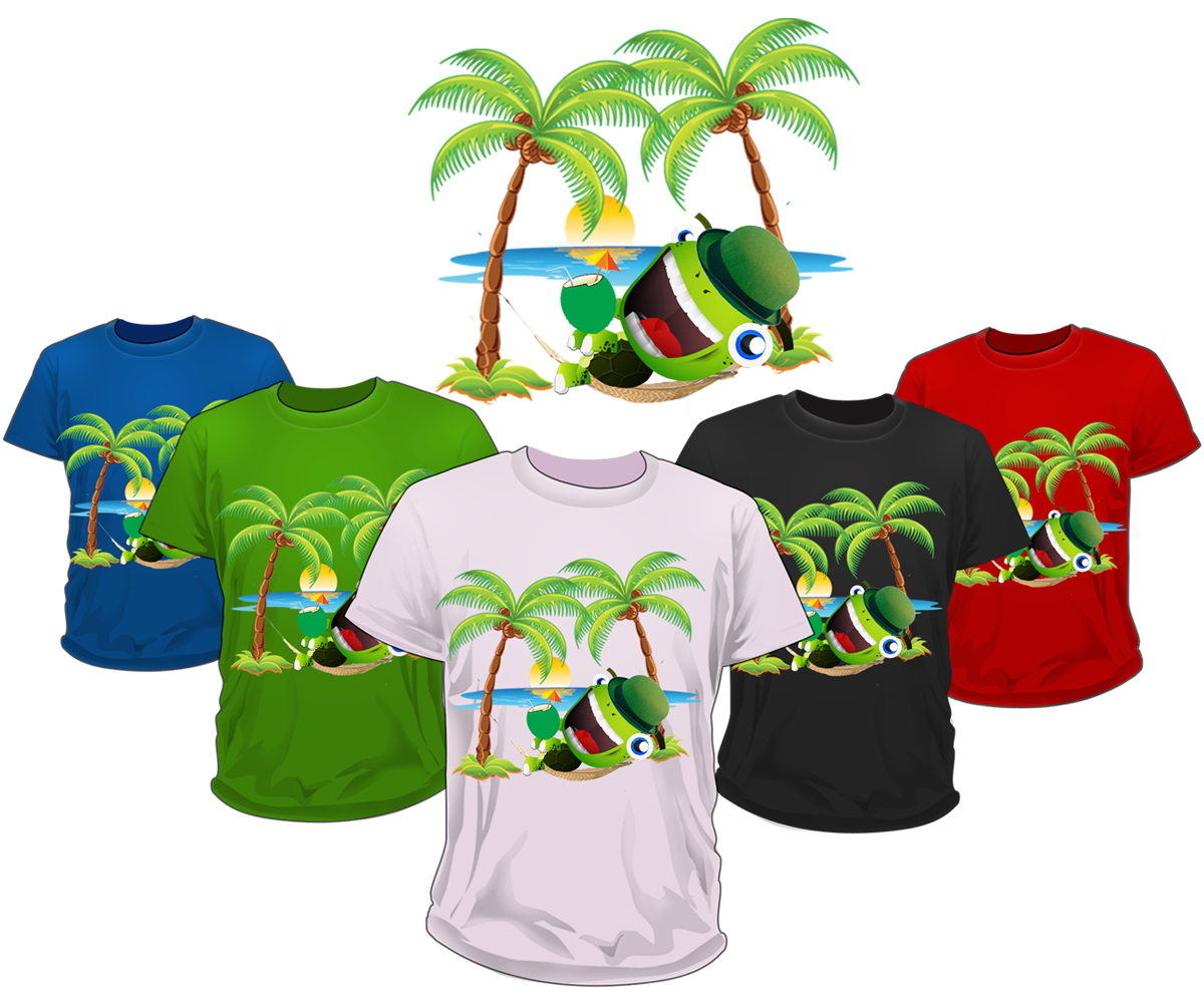 Shirt design needed - T Shirt Design By Russyiddin For Souvenir T Shirt With Sea Turtle Character Needed