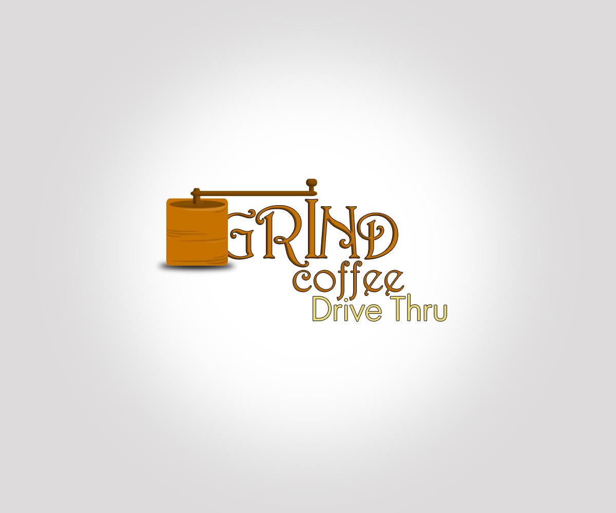 modern upmarket coffee shop logo design for grind coffee drive thru by rm design 2632227 logo design for grind coffee drive thru