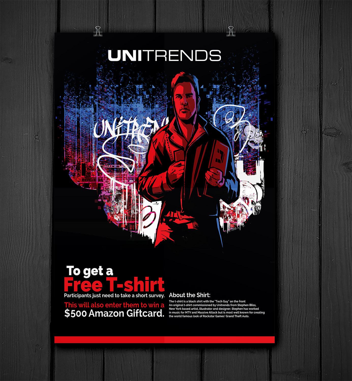modern masculine information technology poster design for