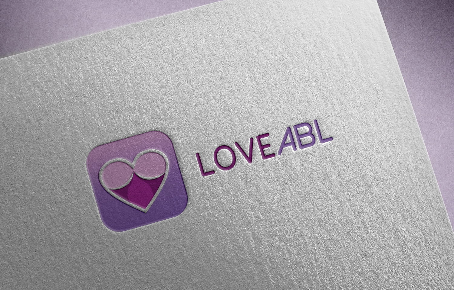 Modern feminine logo design for loveabl by angus grafik for Grafik design