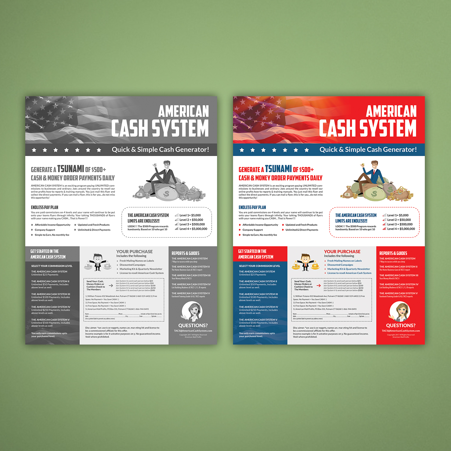 flyer design by hih7 for american mail profits design 16161671