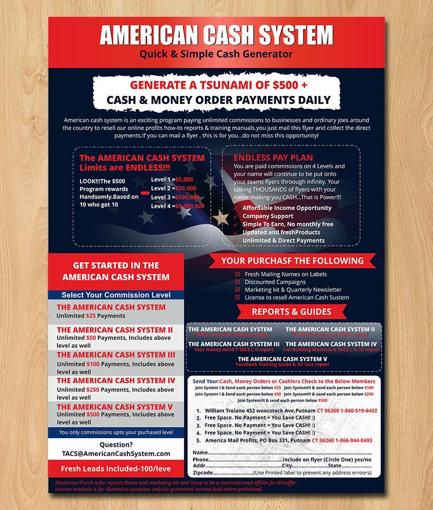 upmarket serious small business flyer design for american mail