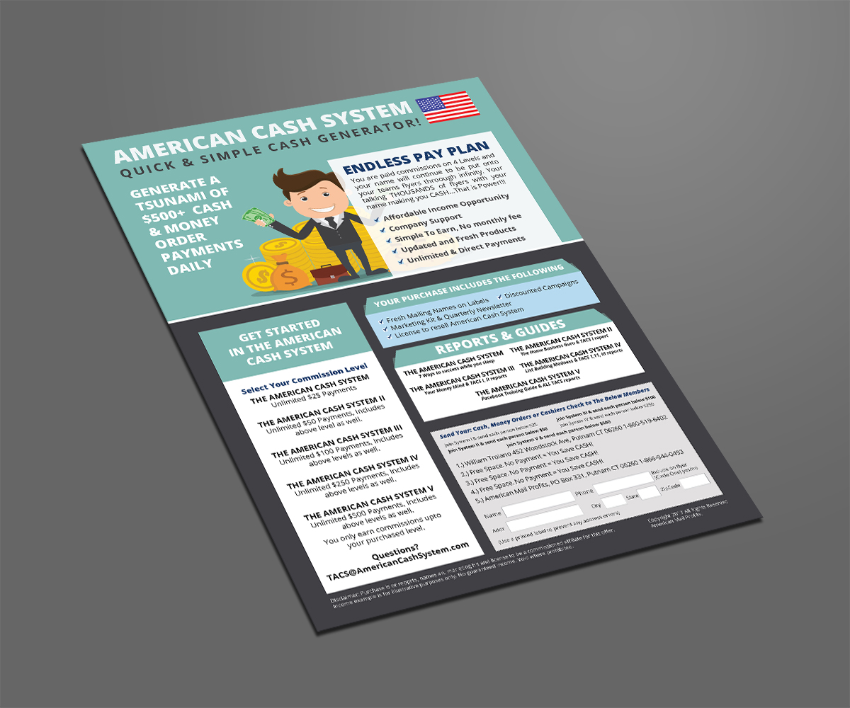 Upmarket, Serious, Small Business Flyer Design for American