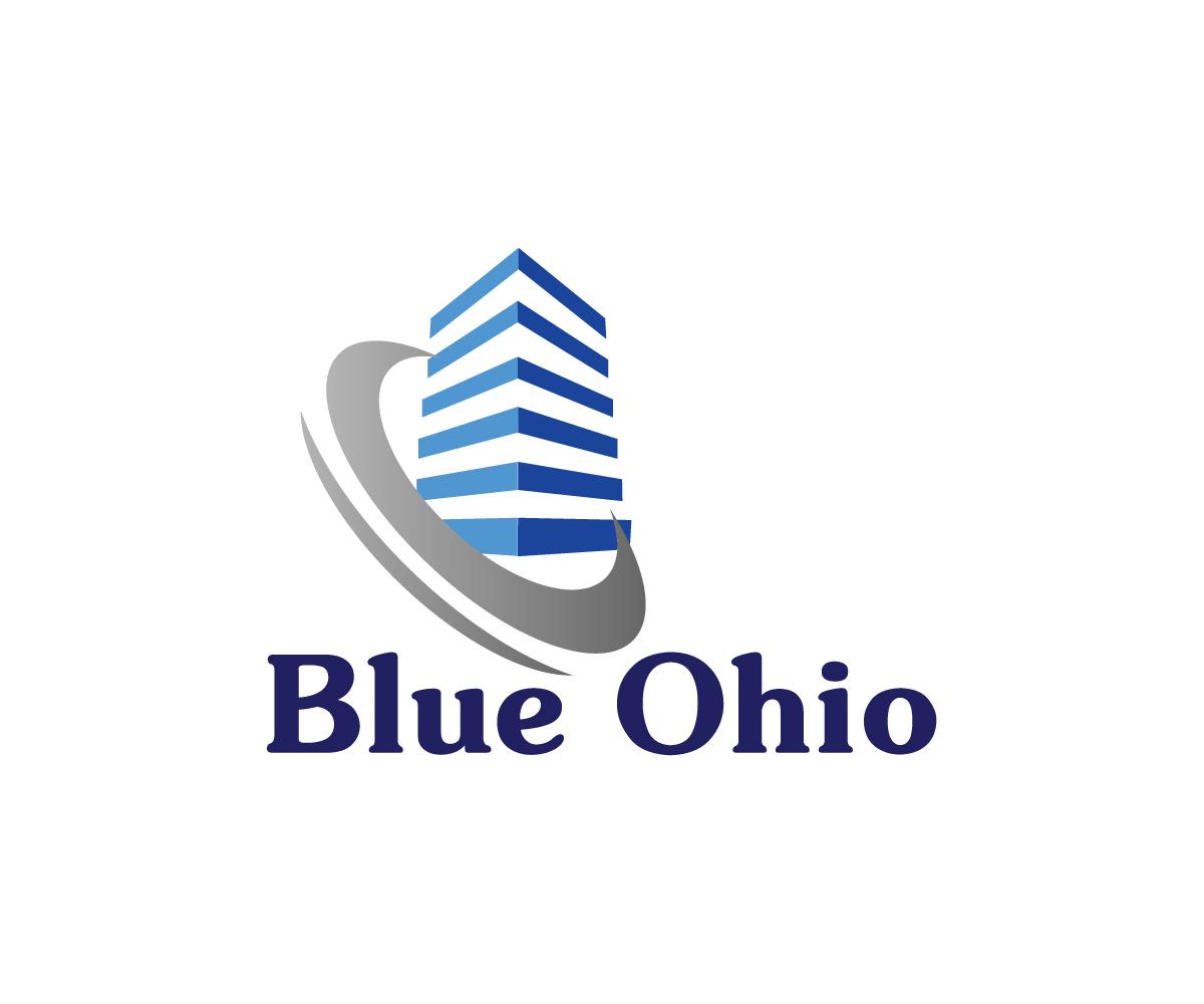 Real Estate Development Logo : Masculine economical real estate logo design for blue