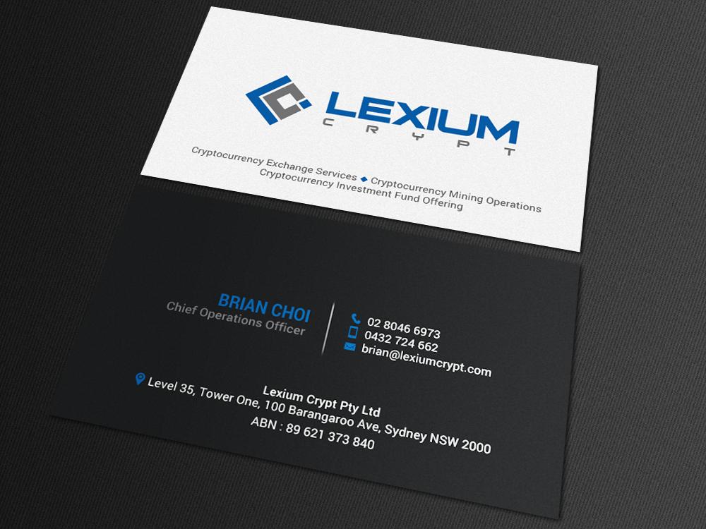 Bold modern business card design for essen capital group by bold modern business card design for company in australia design 16161216 reheart Choice Image