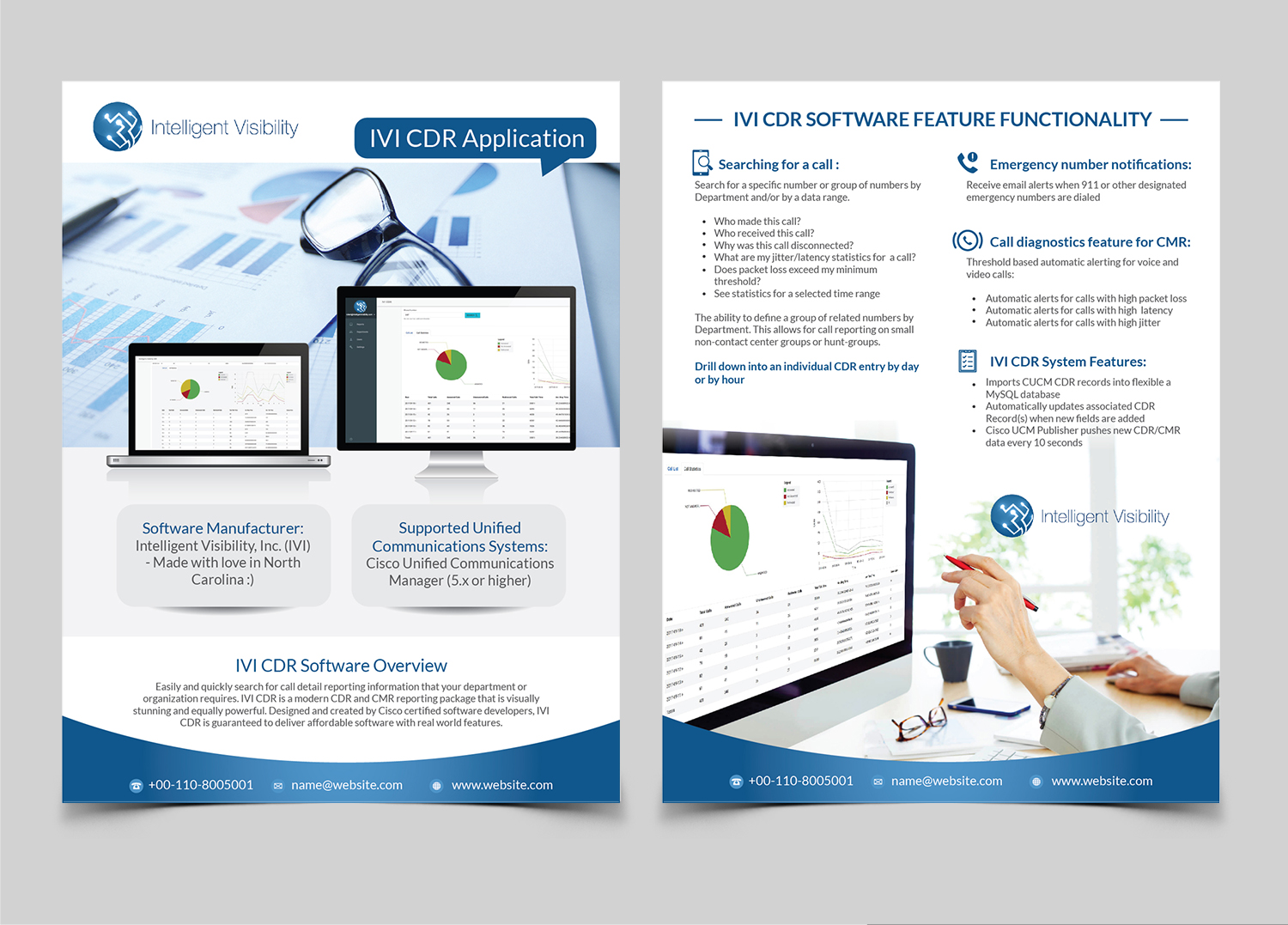 62 Upmarket Flyer Designs Voip Design Project For An Overview By Achiver Intelligent Visibility 16172155