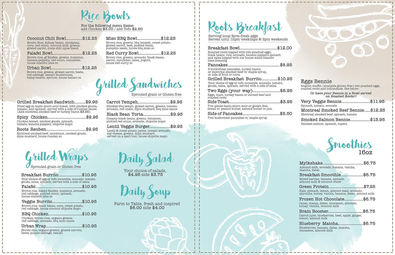 Modern bold restaurant menu design for a company by