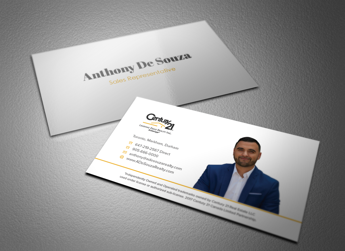 Modern, Bold Business Card Design for Anthony De Souza by Eggo May ...