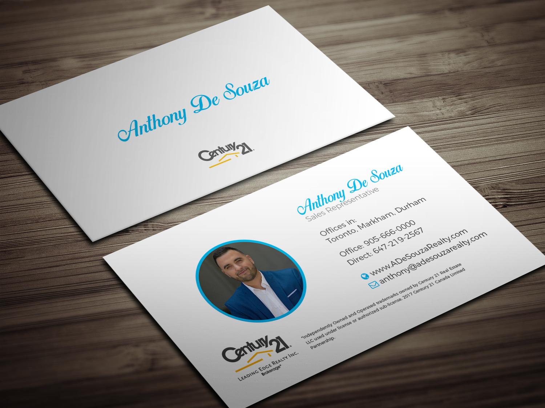 Modern, Bold, Real Estate Agent Business Card Design for Anthony ...