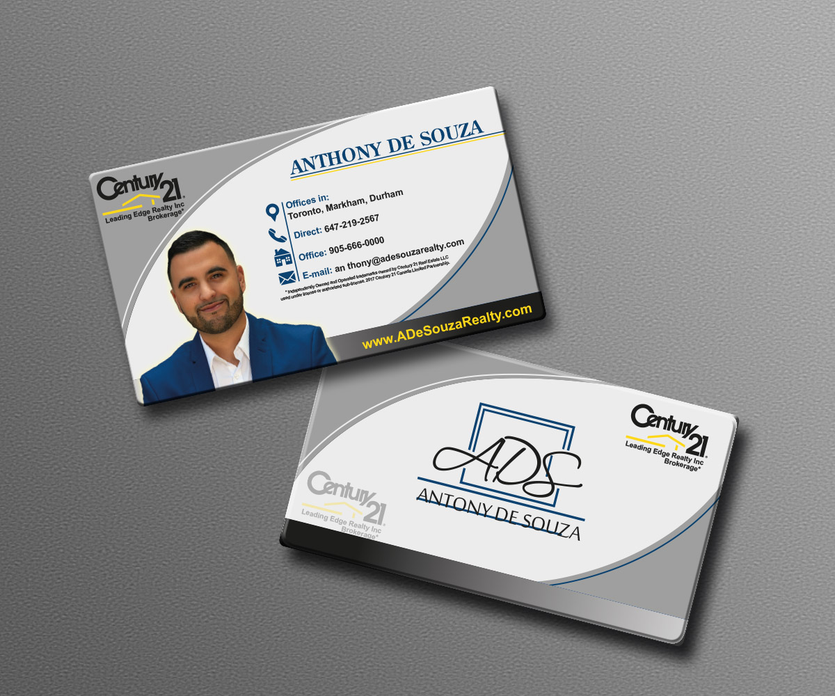 Modern bold real estate agent business card design for anthony business card design by adriq for this project design 16323918 reheart Gallery