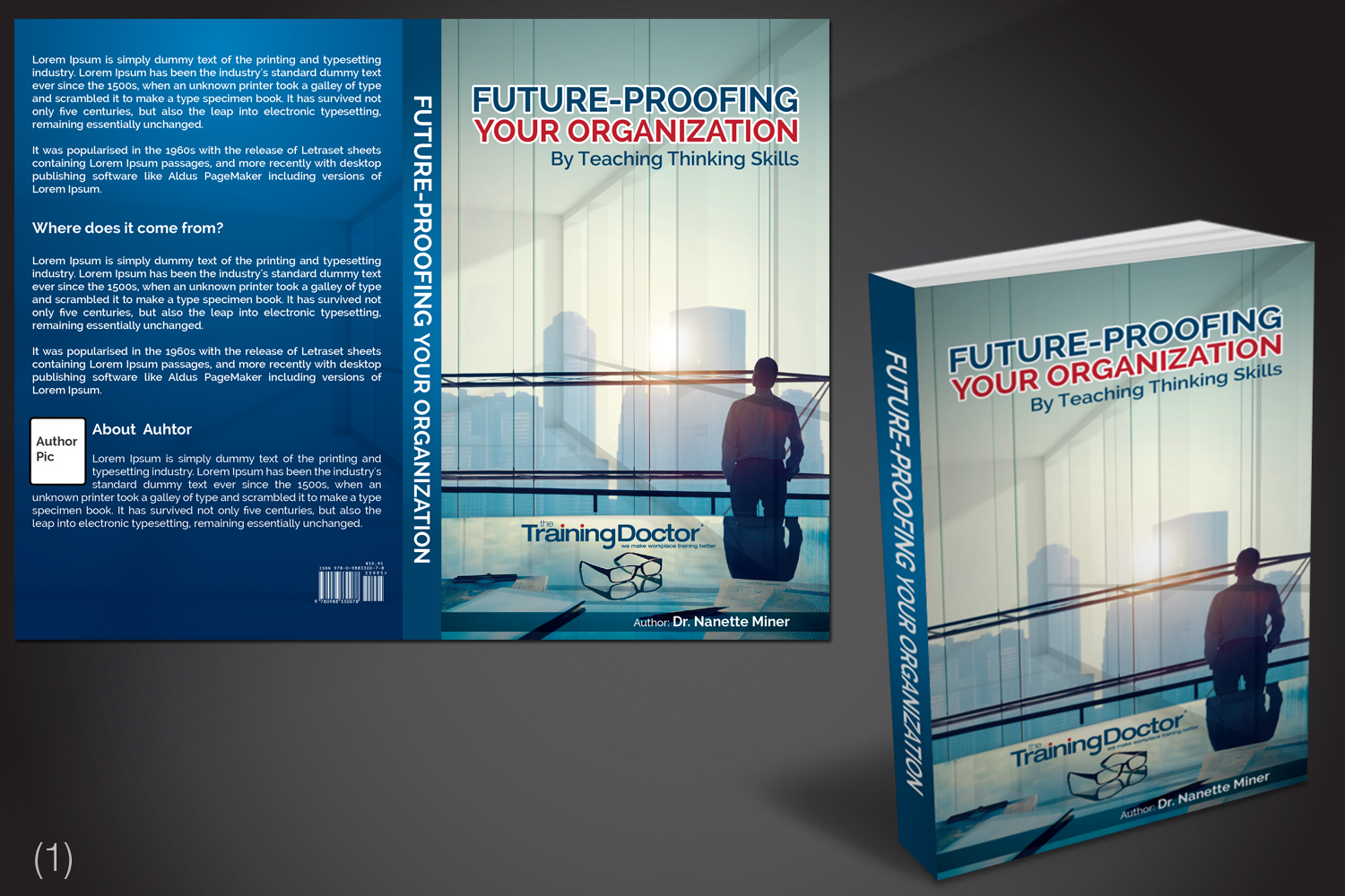 Book Cover Design Course : Professional serious business book cover design for the