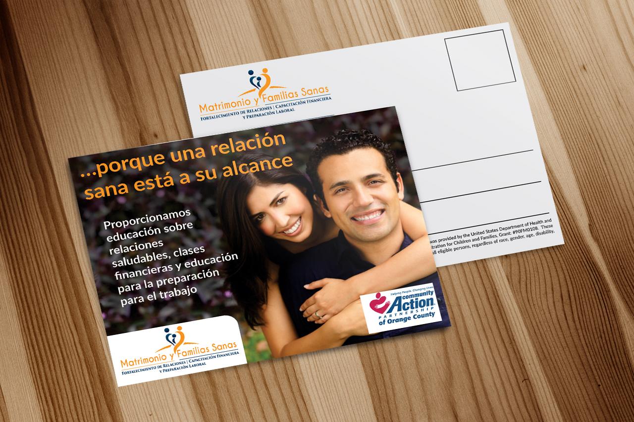 Elegant Playful Marketing Postcard Design For Community Action Partnership Of Orange County In United States 16182104