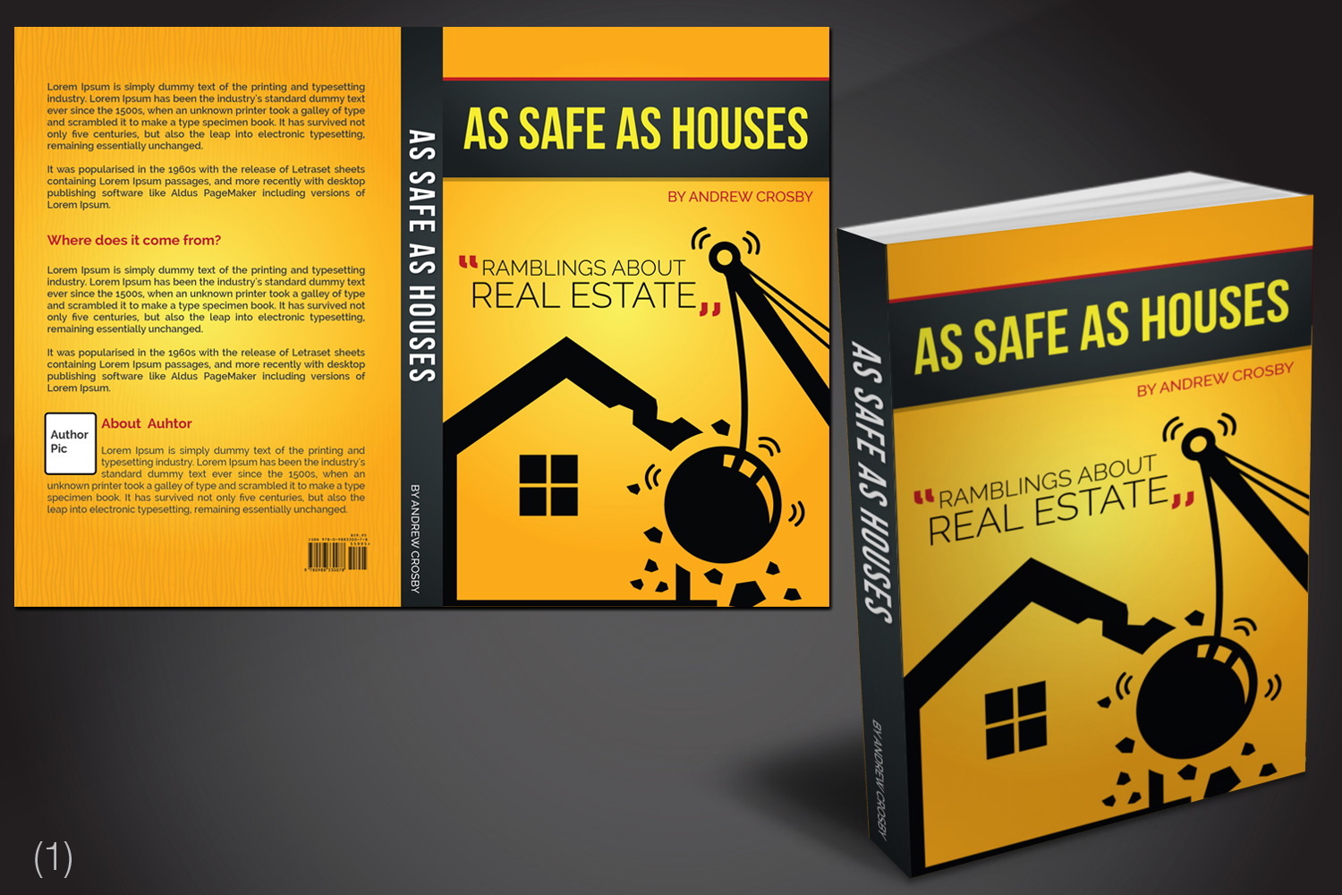 Real Estate Book Cover Design : Bold playful real estate development book cover design