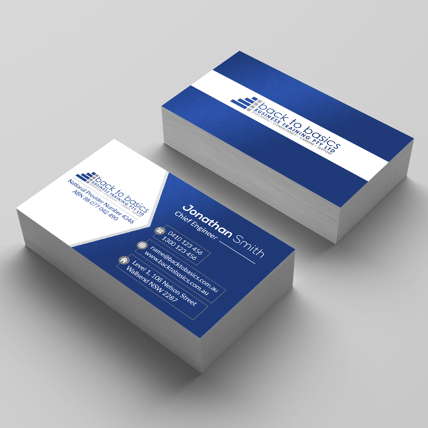 Masculine, Upmarket, Construction Business Card Design for Back to ...