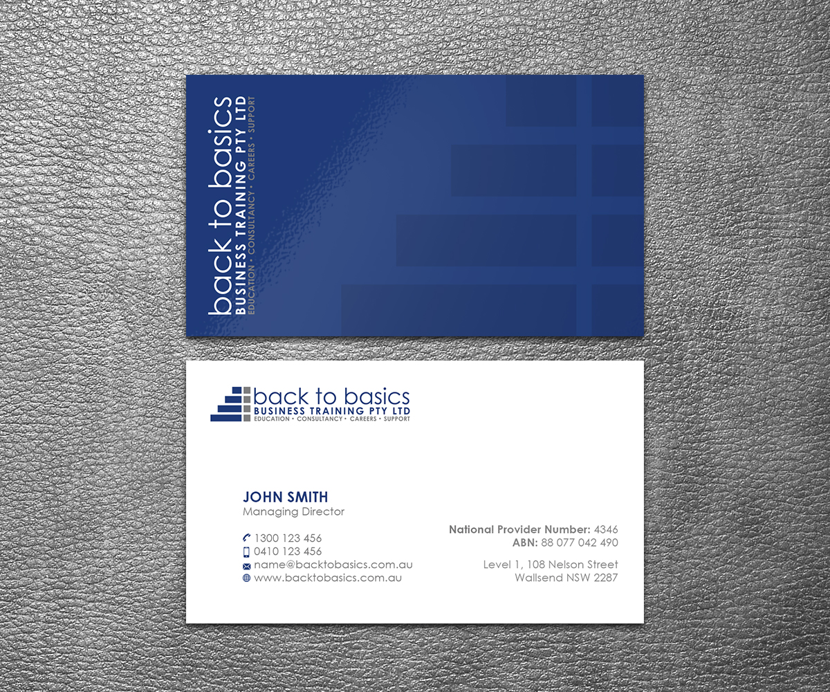 Masculine, Upmarket, Construction Business Card Design for Back to ...