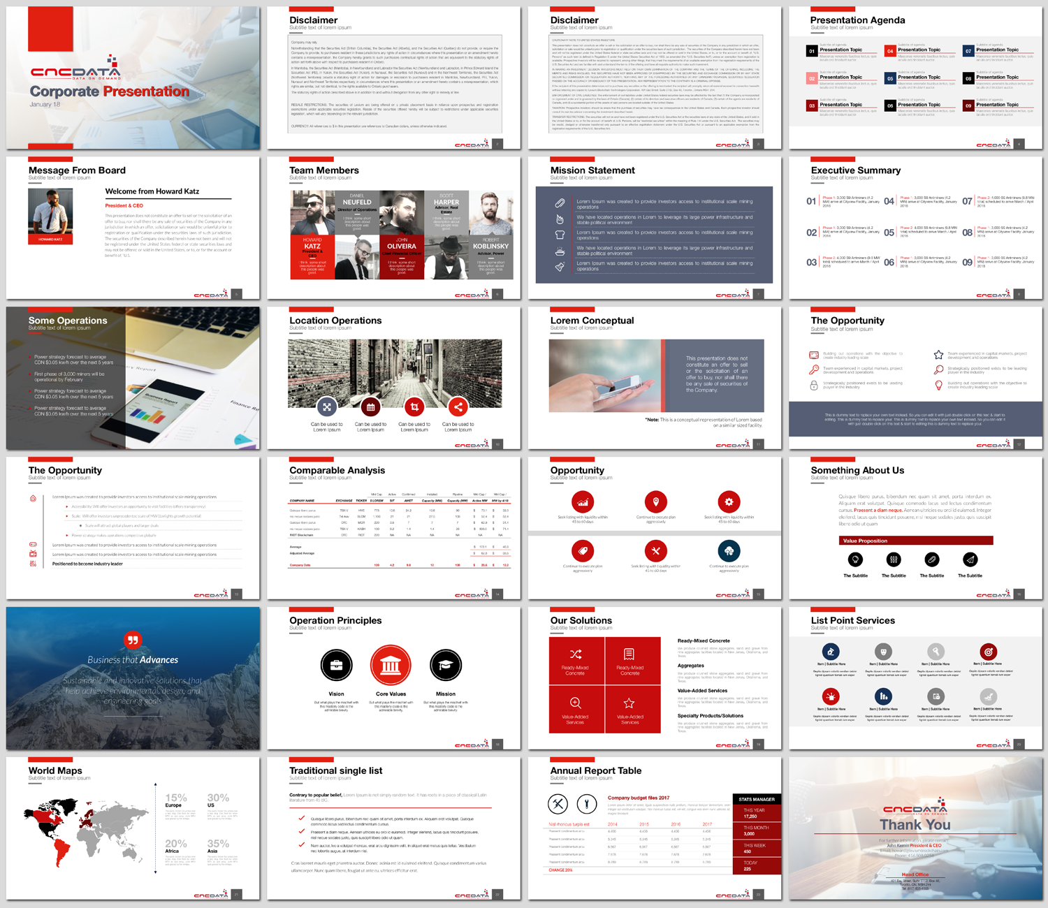 Serious, Modern, Marketing PowerPoint Design for CNCDATA