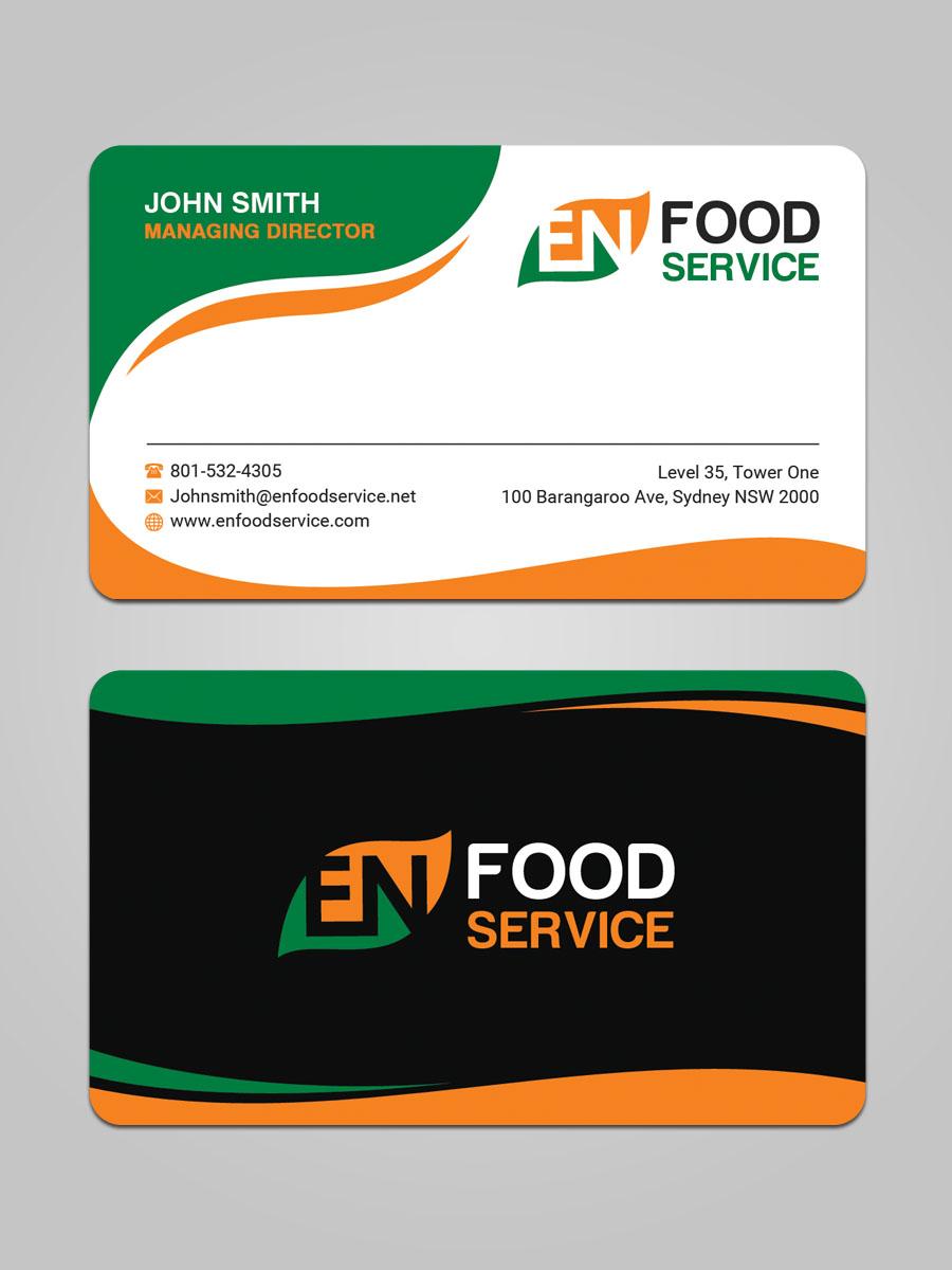 Modern upmarket catering business card design for en food service business card design by sandaruwan for en food service design 16244207 colourmoves