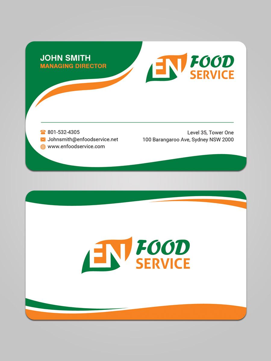 Modern Upmarket Catering Business Card Design For En Food