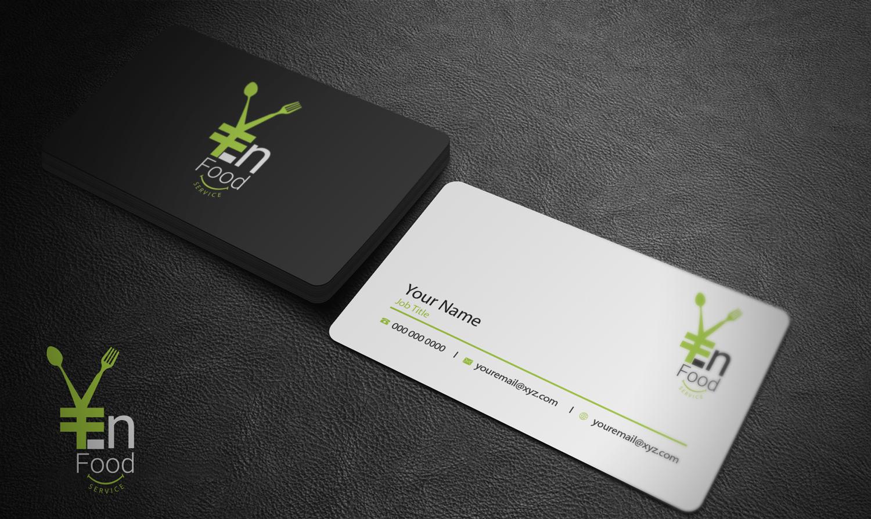 Modern upmarket catering business card design for en food service business card design by riz for en food service design 16246619 reheart Image collections