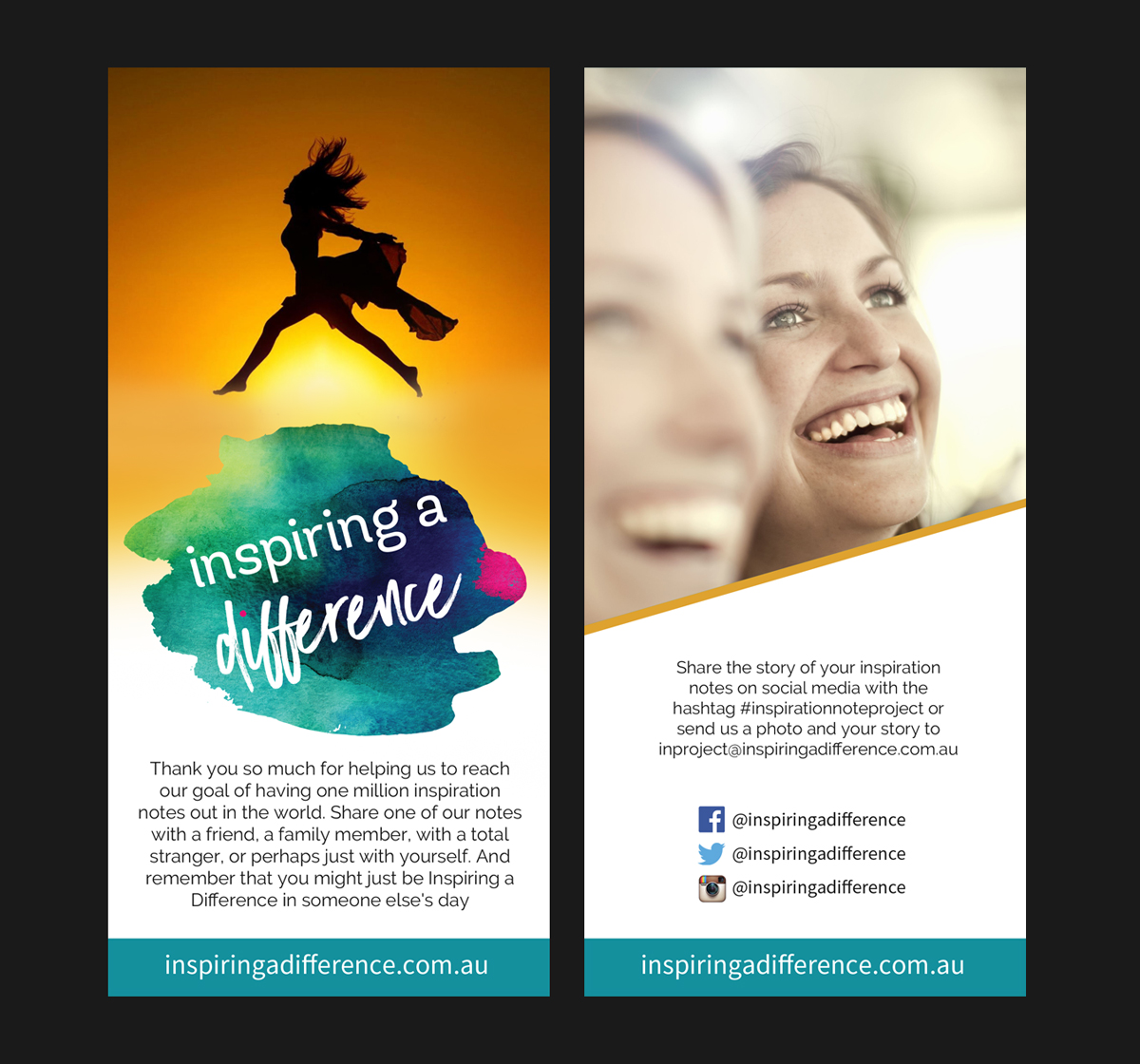 modern, playful flyer design for inspiring a difference by gfx.26
