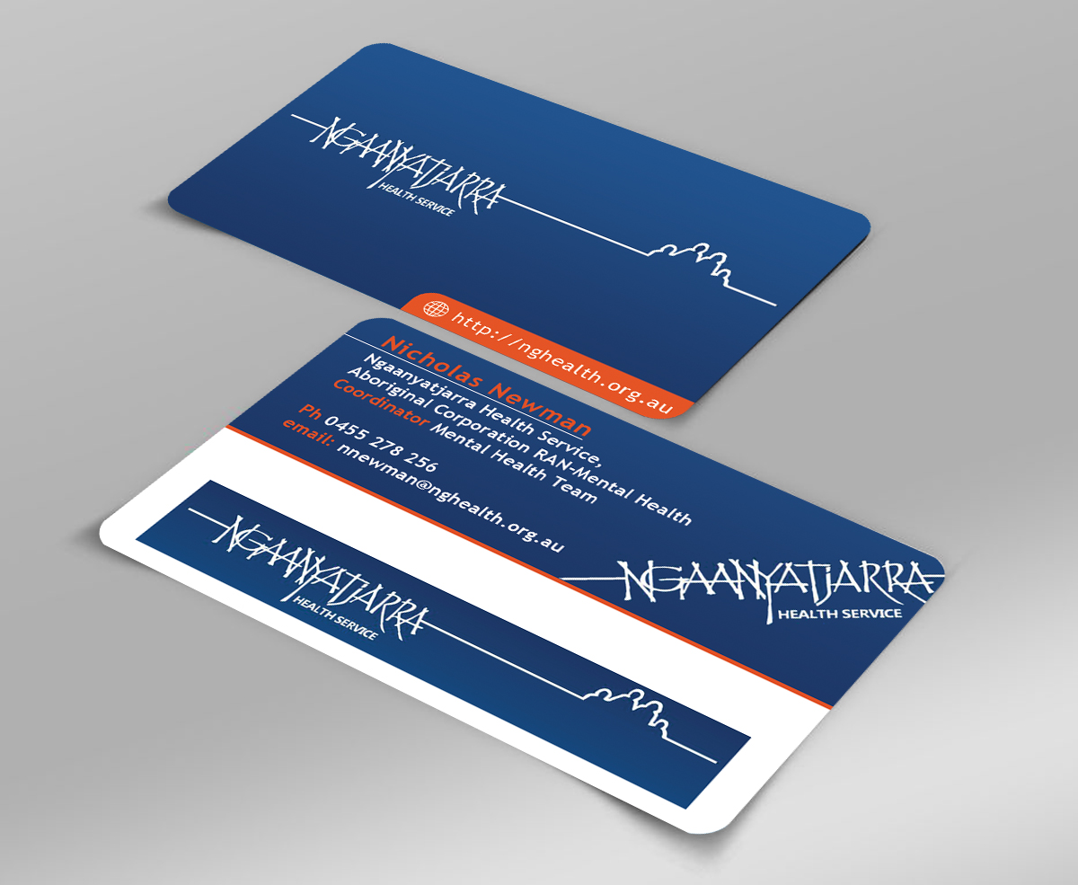Masculine Modern Mental Health Business Card Design For A Company