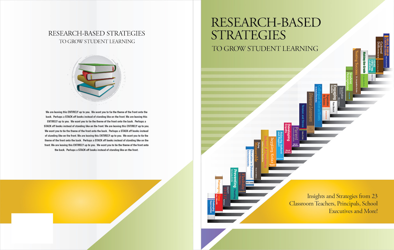 Colorful Modern Education Book Cover Design For A Company