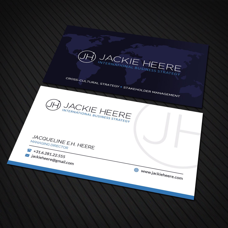 Modern, Upmarket, Management Consulting Business Card Design for ...