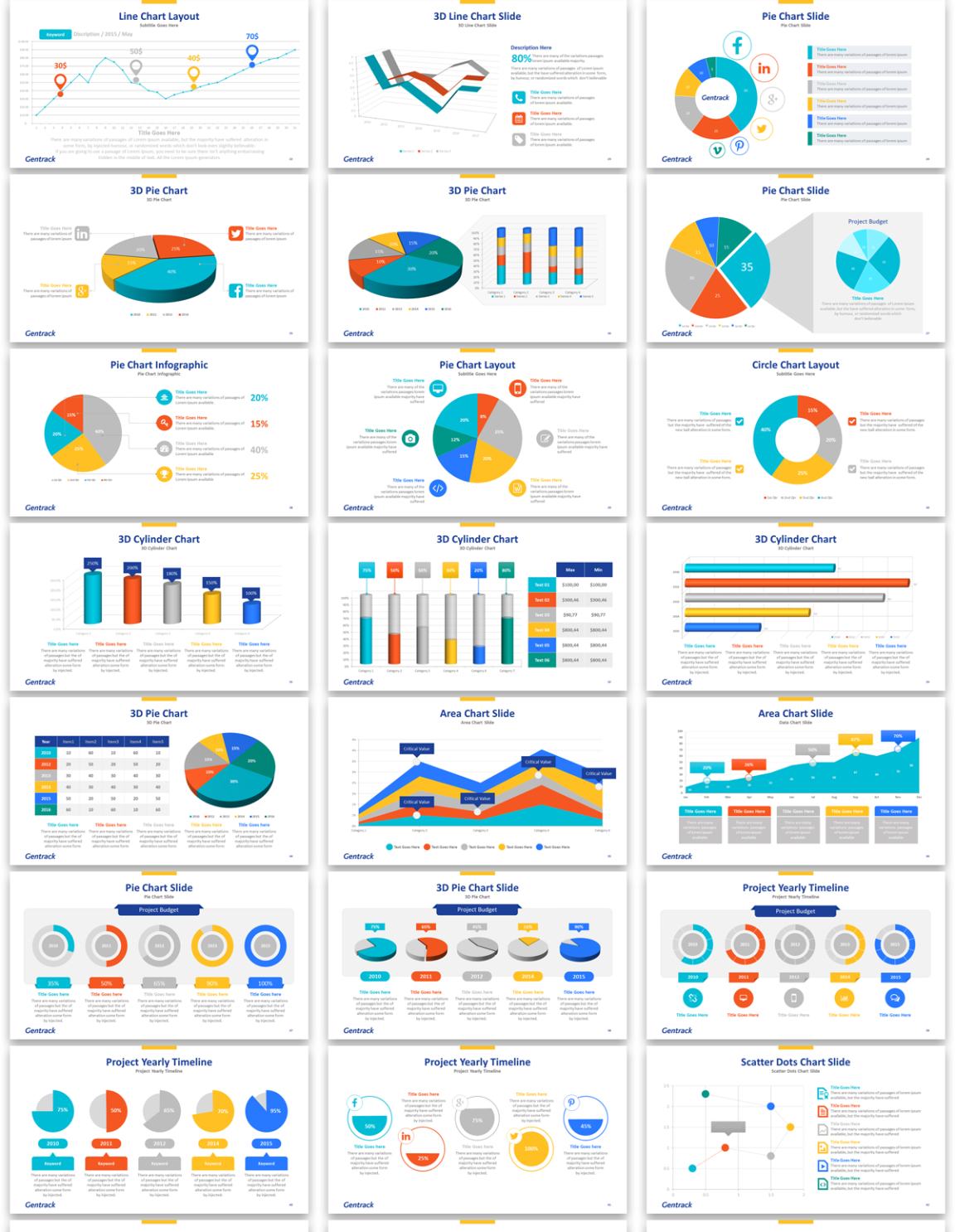 modern professional business software powerpoint design for a