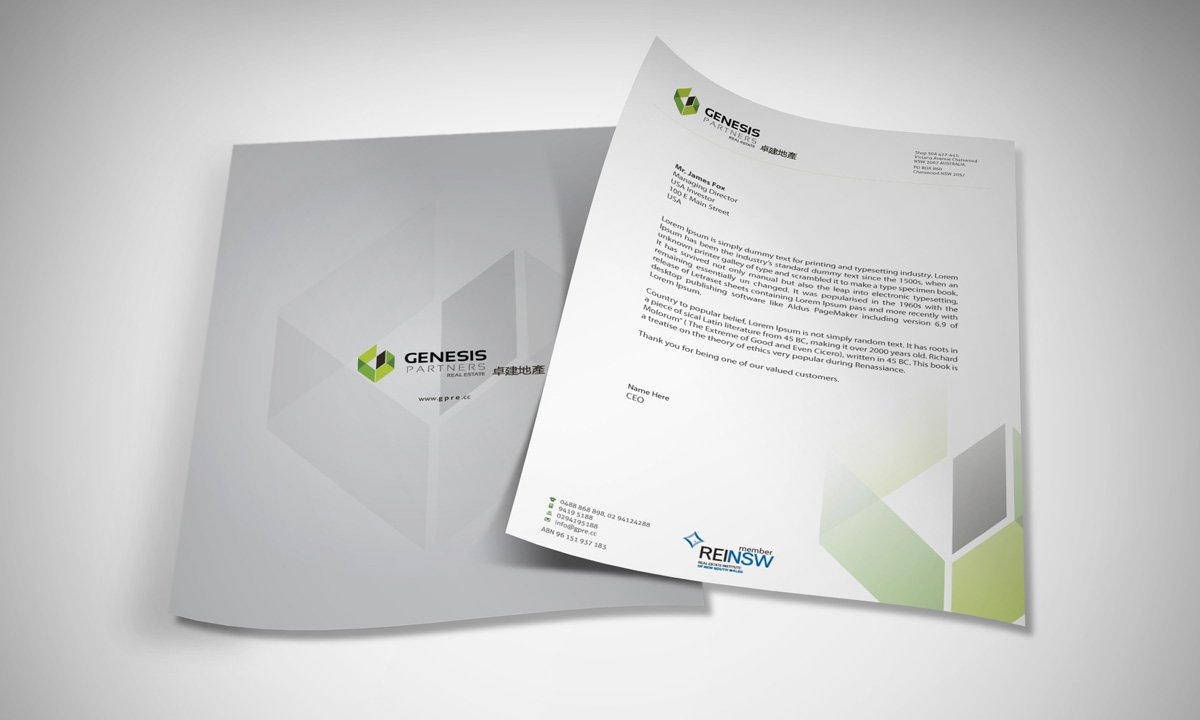 letterhead design by asimali for letterhead design needed for real estate office design 3000278