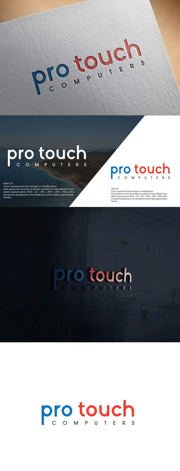 Modern, Professional, It Company Logo Design for ( ProTouch