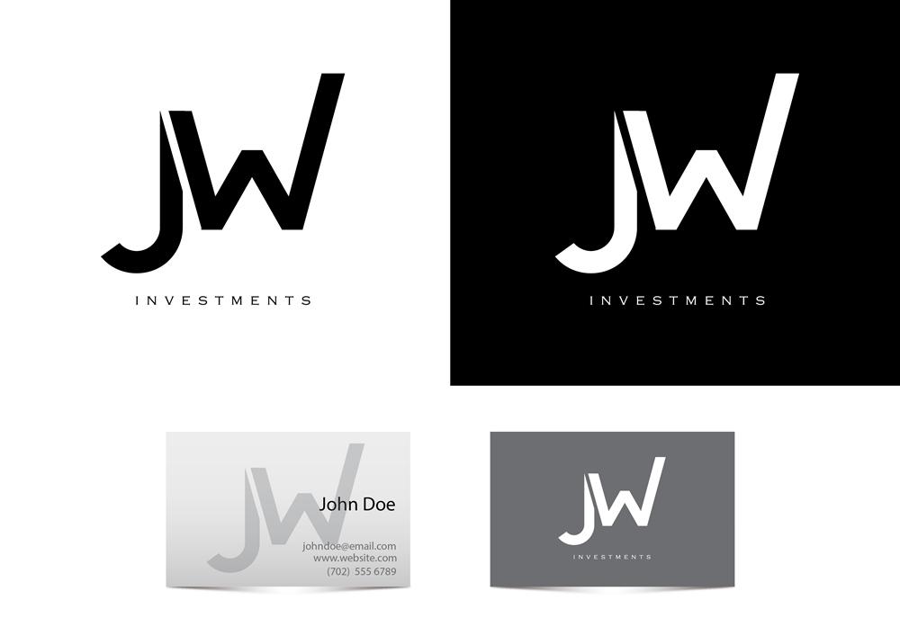 professional conservative finance logo design for jw investments