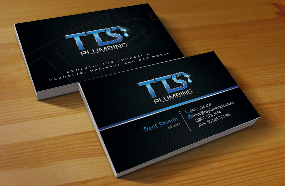 Bold, Modern, Plumbing Business Card Design for TTS Plumbing and ...