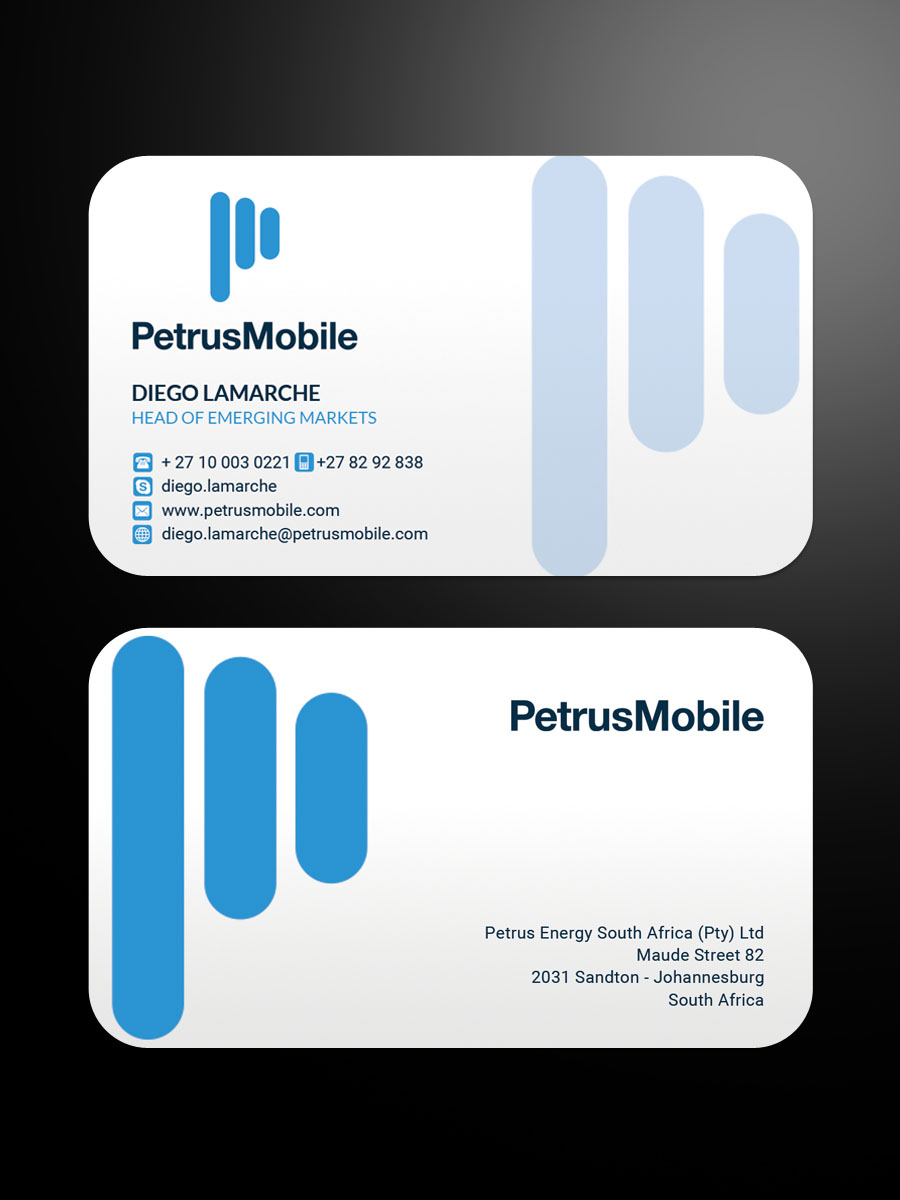 Elegant serious wireless communication business card design for business card design by sandaruwan for petrus sa design 16295058 colourmoves