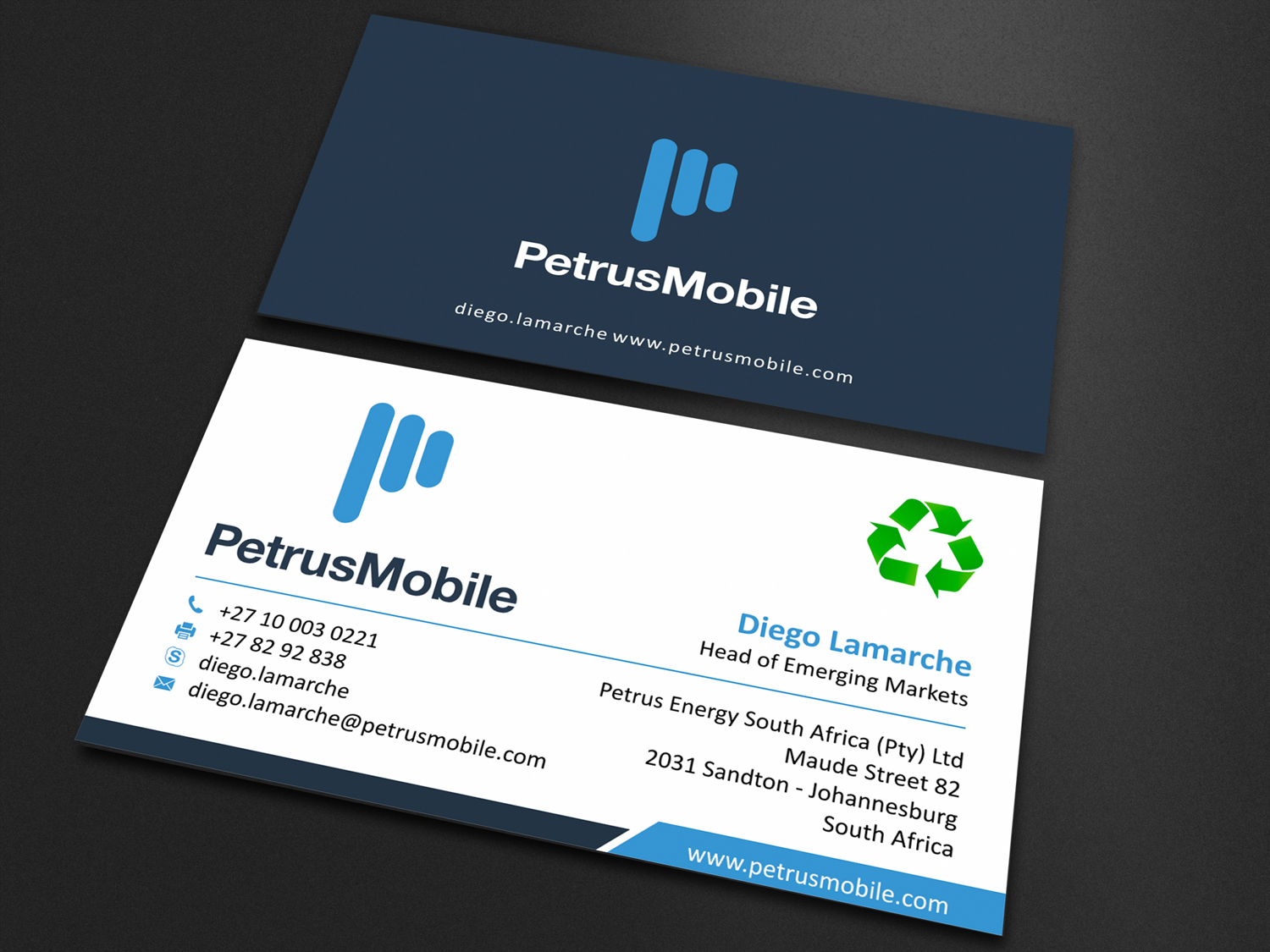 Elegant serious wireless communication business card design for business card design by skydesign for petrus sa design 16304036 colourmoves