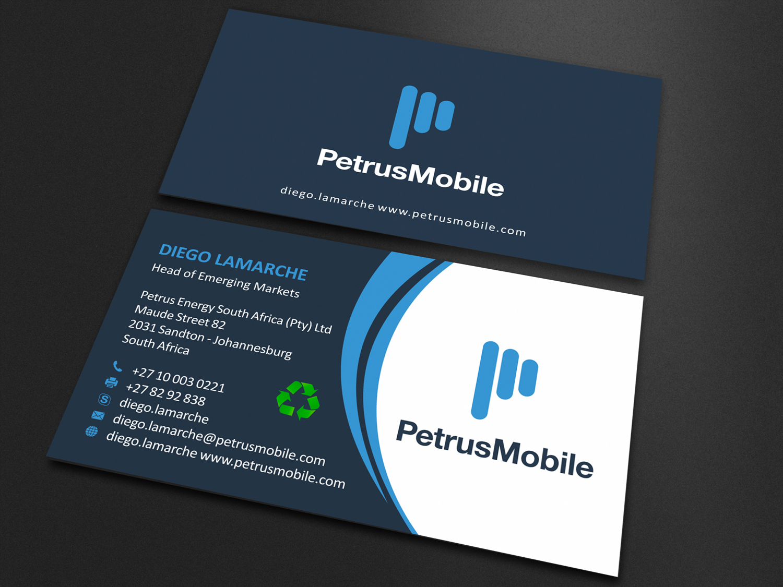 Elegant serious wireless communication business card design for business card design by skydesign for petrus sa design 16304069 colourmoves