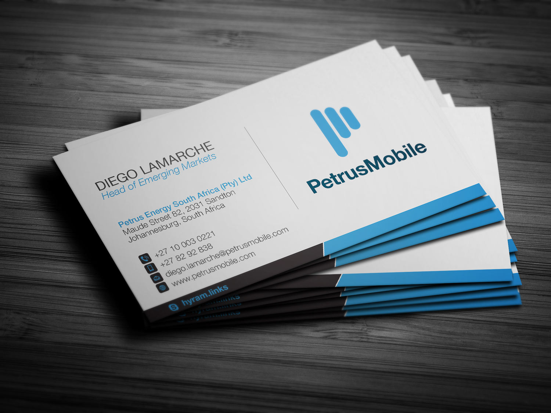 Elegant serious wireless communication business card design for business card design by bran design for petrus sa design 16293864 colourmoves