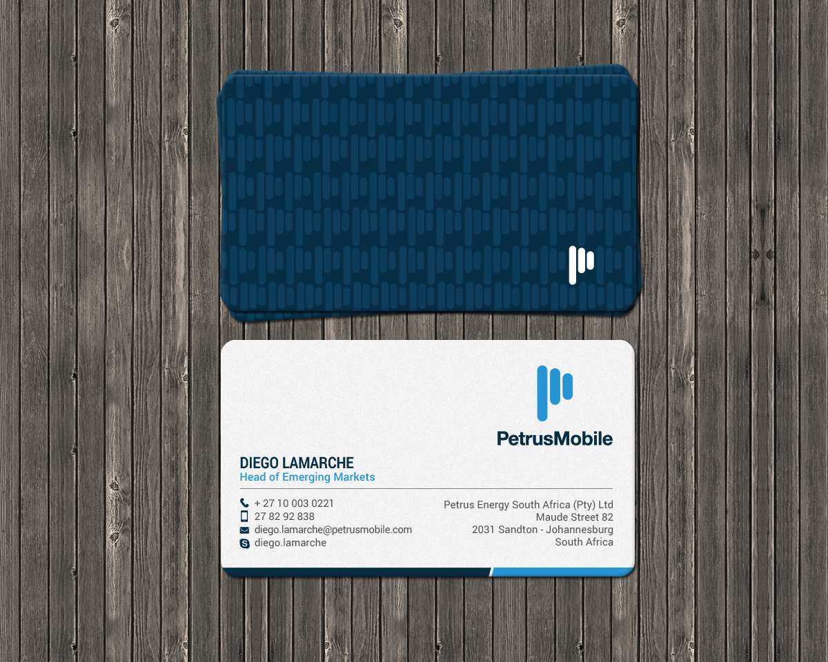 Elegant serious wireless communication business card design for business card design by chandrayaaneative for petrus sa design 16300900 colourmoves