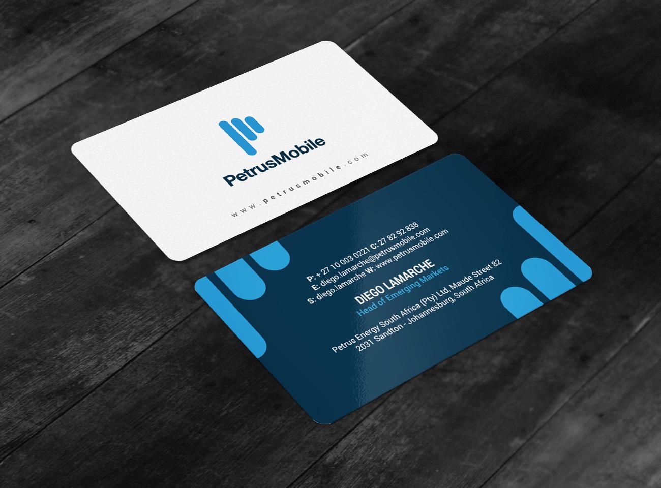 Elegant serious wireless communication business card design for business card design by chandrayaaneative for petrus sa design 16307334 colourmoves