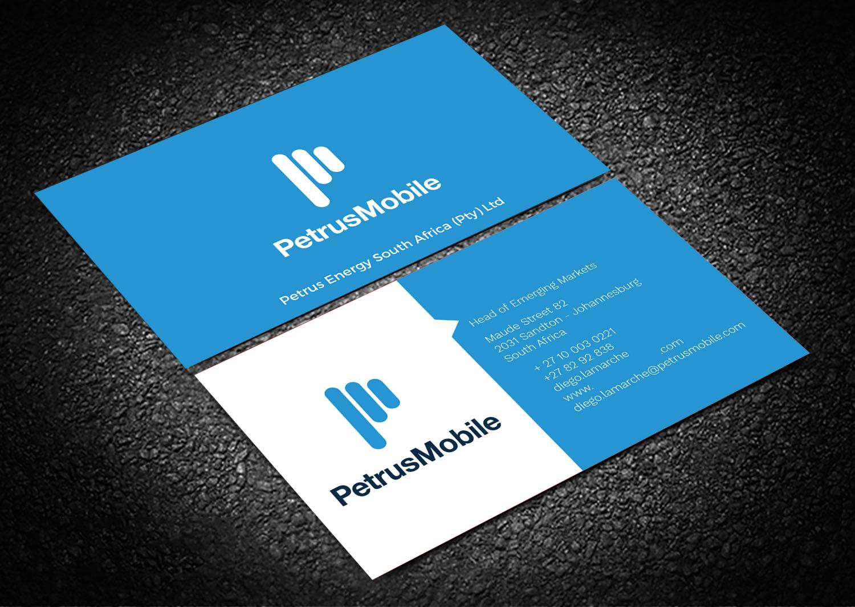 Elegant serious wireless communication business card design for business card design by graphic flame for petrus sa design 16312629 colourmoves